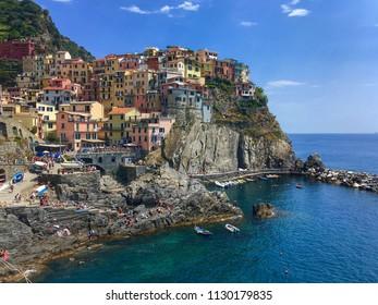 Manarola in Cinque Terre, Italy.