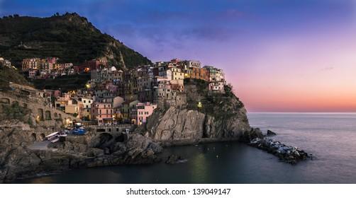 Manarola (Cinque Terre ITALY) at dawn