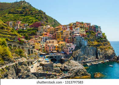 Manarola, first and most beautiful village of the Cinque Terre in Italy