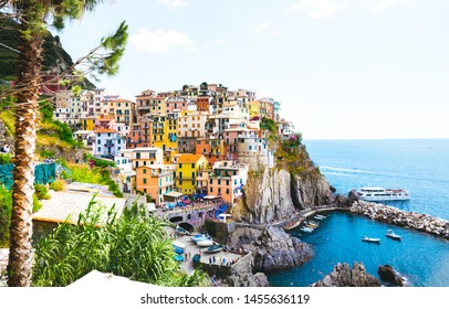 Manarola, Italy - iconic landmark village in Cinque Terre national park in Italy
