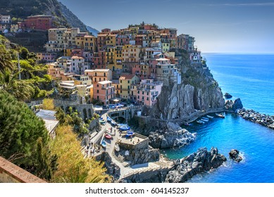 Manarola; one of the five villages of the Cinque Terre in Liguria, Italy