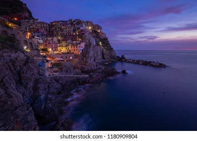 Manarola is a small town, in the province of La Spezia, Liguria, northern Italy. It is the second-smallest of the  famous Cinque Terre towns