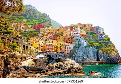 Manarola, village of Cinque Terre, Italy
