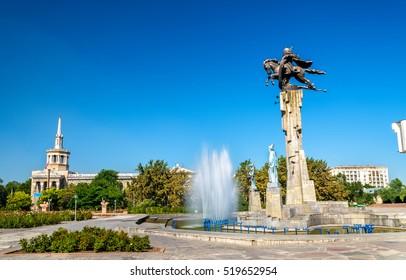 Manas equestrian monument in Bishkek, the Kyrgyz Republic