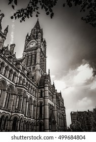 Manchester City building in the center in England, UK
