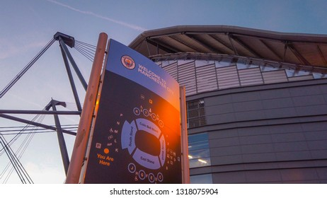 Manchester City football ground the Etihad stadium - MANCHESTER / ENGLAND - JANUARY 1, 2019
