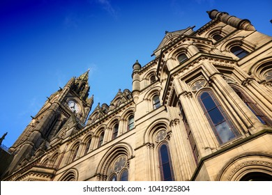Manchester City Hall - old landmark in North West England (UK).