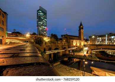 Manchester Cityscape at Night