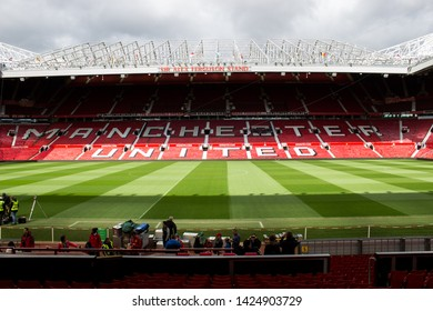 Manchester, England - April 15 2017: Sir Alex Ferguson Stand at Manchester United home stadium Old Trafford