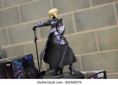MANCHESTER, ENGLAND - APRIL 2, 2016: Character Model at the Manchester Anime and Gaming Convention