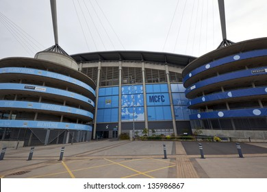 MANCHESTER, ENGLAND - APRIL 21: Etihad stadium is home to Manchester City English Premier League  football club,  one of the most successful clubs in England.  Manchester April 21, 2013.