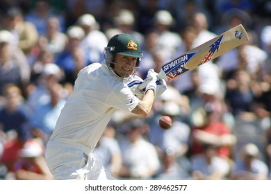 MANCHESTER, ENGLAND - August 02 2013: Michael Clarke during day two of  the Investec Ashes 3rd test match at Old Trafford Cricket Ground, on August 02, 2013 in London, England.
