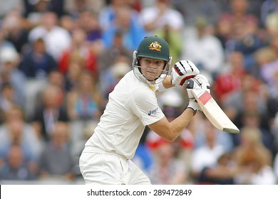 MANCHESTER, ENGLAND - August 04 2013: Steven Smith during day four of  the Investec Ashes 4th test match at Old Trafford Cricket Ground, on August 04, 2013 in London, England.