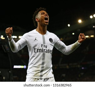MANCHESTER, ENGLAND - FEBRUARY 12 2019: during the Champions League match between Manchester United and Paris Saint-Germain at Old Trafford Stadium.