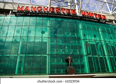 MANCHESTER, ENGLAND - JUNE 4: Old Trafford stadium on June 4 ,2009 in Manchester, England. Old Trafford is home of Manchester United football club