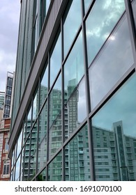Manchester, England - March, 2, 2020: Modern buildings in and around Manchester City centre. Modern architecture and new construction.