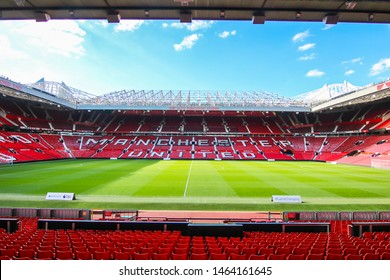 MANCHESTER - ENGLAND, MAY 16, 2019 :Old Trafford stadium; home ground of Manchester United Football Club