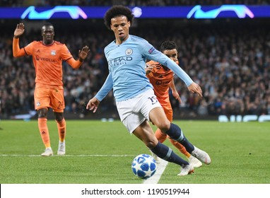 Manchester England September 19 2018 Leroy Sane Pictured During The Uefa Champions