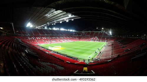 MANCHESTER, ENGLAND - SEPTEMBER 29, 2016: UEFA Europa League match between Manchester United FC and FC Zorya Luhansk at Old Trafford on September 29, 2016 in Manchester, England