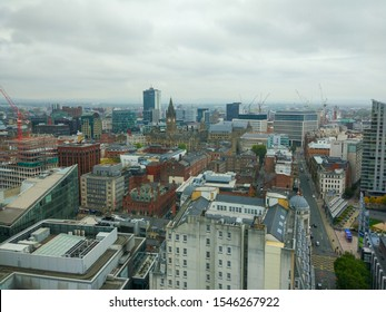 Manchester, England (UK); 10/16/2018: Views of Manchester from the lookout of Beetham Tower (also known as the Hilton Tower)