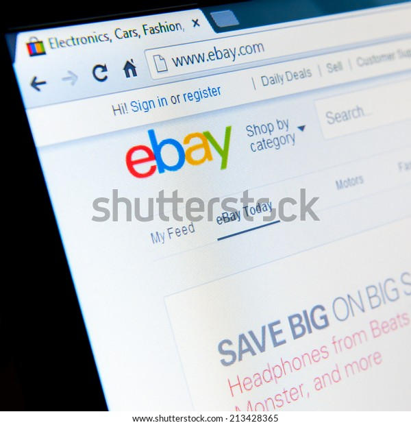 Manchester Feb 12 Ebay Home Page Stock Photo Edit Now 213428365
