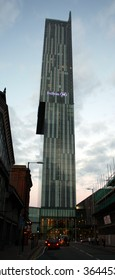 Manchester Hilton Hotel in the Beetham Tower.
