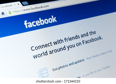 MANCHESTER - JAN 14: The Facebook home page on Jan. 14 2014 in Manchester, UK. Facebook has signed a deal with Yandex to allow Russia�s online search engine to display public data from Facebook users.