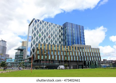 Manchester - July 27: university of salford building scenery, July 27, 2016, Manchester, England.