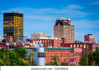 Manchester, New Hampshire, USA skyline.