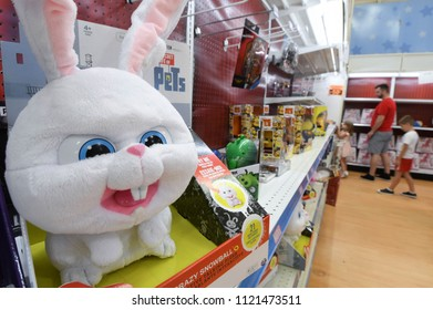 Manchester, N.H/USA - June 25, 2018: Shoppers browse for bargains at a Toys R Us store three days before its closure.