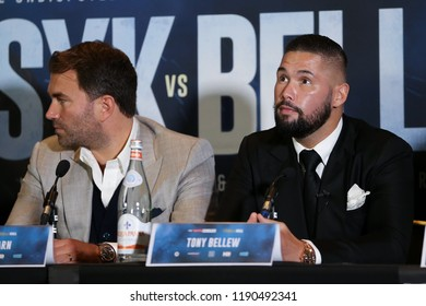 MANCHESTER - SEPTEMBER 24: Tony Bellew looks up during the Usyk v Bellew, Matchroom Boxing press conference on September 24, 2018 in Manchester.