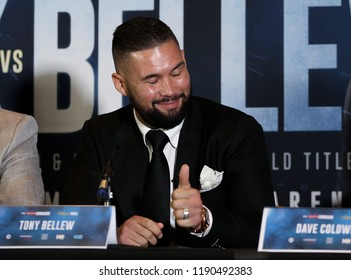 MANCHESTER - SEPTEMBER 24: Tony Bellew gives a thumbs up during the Usyk v Bellew, Matchroom Boxing press conference on September 24, 2018 in Manchester.