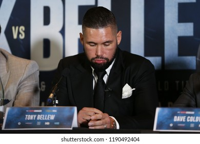 MANCHESTER - SEPTEMBER 24: Tony Bellew during the Usyk v Bellew, Matchroom Boxing press conference on September 24, 2018 in Manchester.