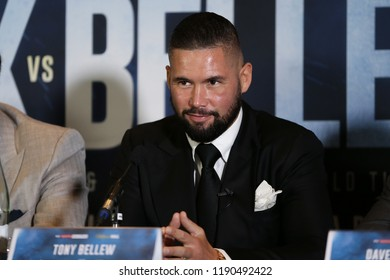 MANCHESTER - SEPTEMBER 24: Tony Bellew smiles during the Usyk v Bellew, Matchroom Boxing press conference on September 24, 2018 in Manchester.
