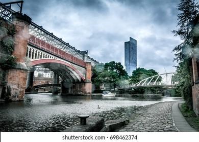Manchester skyline, Castlefield canals