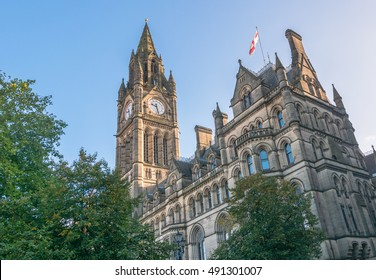 Manchester Town Hall in Albert Square, Manchester.