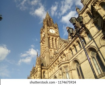 Manchester Town Hall, Manchester, Cheshire, September 5th 2018.  The town hall is in Albert Square is a 140 year Grade I-listed building.