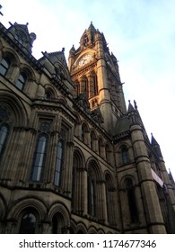 Manchester Town Hall, September 5th 2018, Manchester, Cheshire.  Historic Grade I-Listed building in the centre of Manchester.