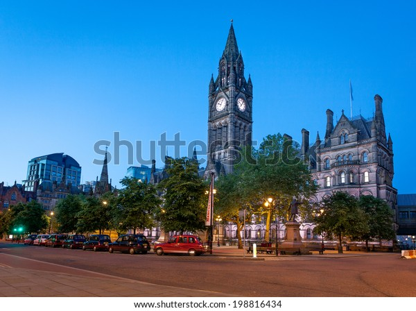 Manchester Town Hall is a Victorian, Neo-gothic municipal building in Manchester, England.
