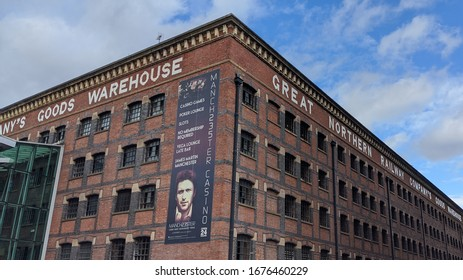 Manchester. UK. 03/17/2020 Great Northern Railway Company Goods Warehouse. A red brick warehouse built in 1899 and converted in to retail units in 1998.