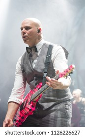 manchester, UK, 17 June 2018. Josh Rand, Rhythm Guitarist of American rock band, Stone Sour, performs live at O2 Apollo at the start of the UK leg of their world tour. Credit: Tracy Daniel