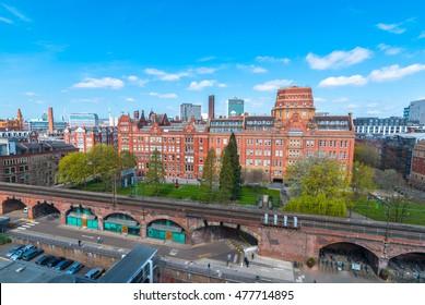 MANCHESTER, UK- 22 APRIL 2016: Sackville street University of Manchester Building.