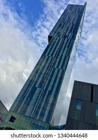 Manchester / UK - August 1 2015: Beetham Tower Manchester