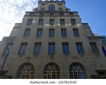 Manchester / UK - August 10 2016: Low angle views of Hotel Gotham building at 100 King Street