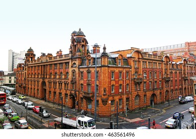 MANCHESTER, UK - AUGUST 2, 2016: Swank new hotel is set to open in London Road Fire and Police Station, Manchester, England, UK. 1901-1906