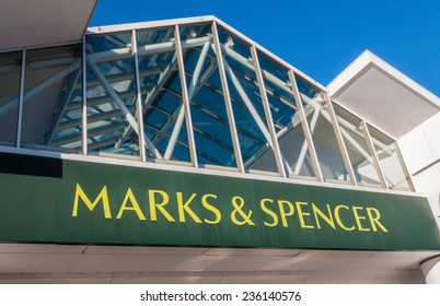 Manchester, UK  - December 3rd 2014: Marks and Spencer the UK retail giant saw big Christmas crowds today.