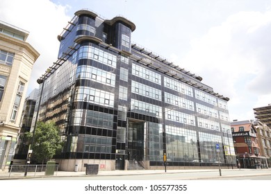 MANCHESTER, UK - JUNE 19: The Daily Express Building, an Art Deco structure characterized by black and silver glass, June 19, 2012 in Manchester, UK. One of the top 5 places to visit in Manchester in 2012