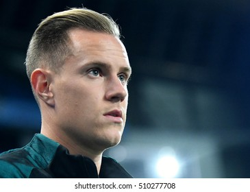 MANCHESTER, UK - NOVEMBER 1, 2016: Marc-Andre ter Stegen pictured prior to the UEFA Champions League Group C game between Manchester City and FC Barcelona on Etihad Stadium.
