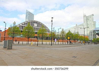 MANCHESTER UK-APRIL 19: Manchester Central Convention Center is a modern congress spot in the city on April 19, 2014 in England UK
