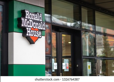 Manchester, United Kingdom - 03/01/2019: Ronald McDOnald House Manchester